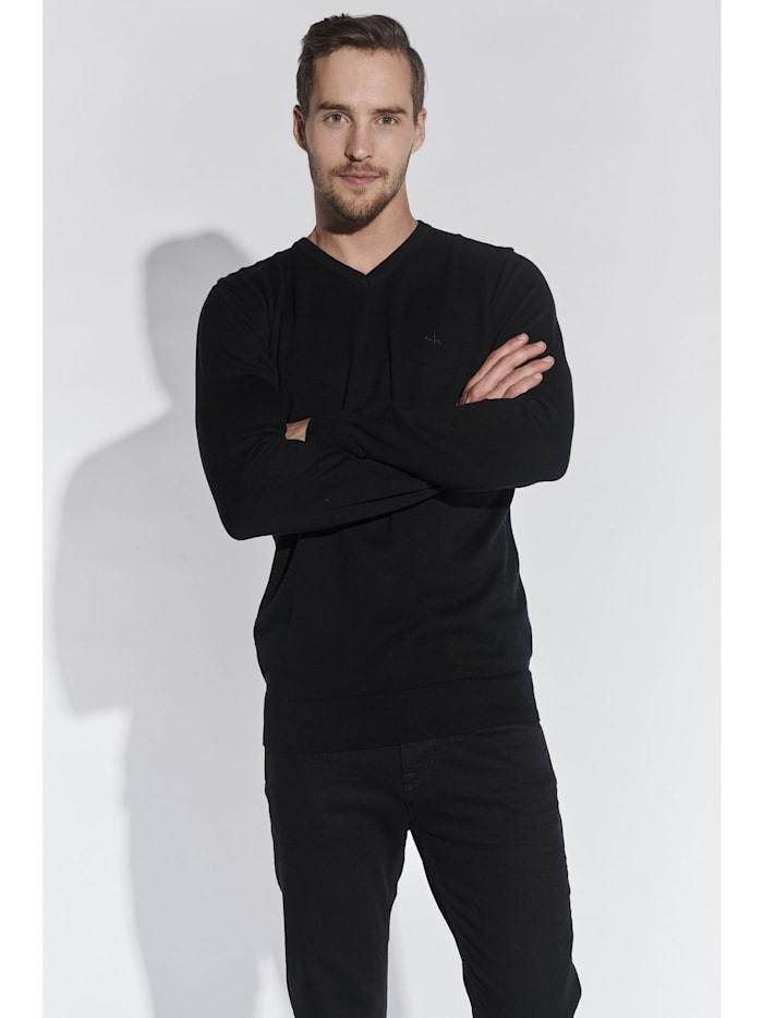 Steffen Klein Herren Basic Pullover, Schwarz