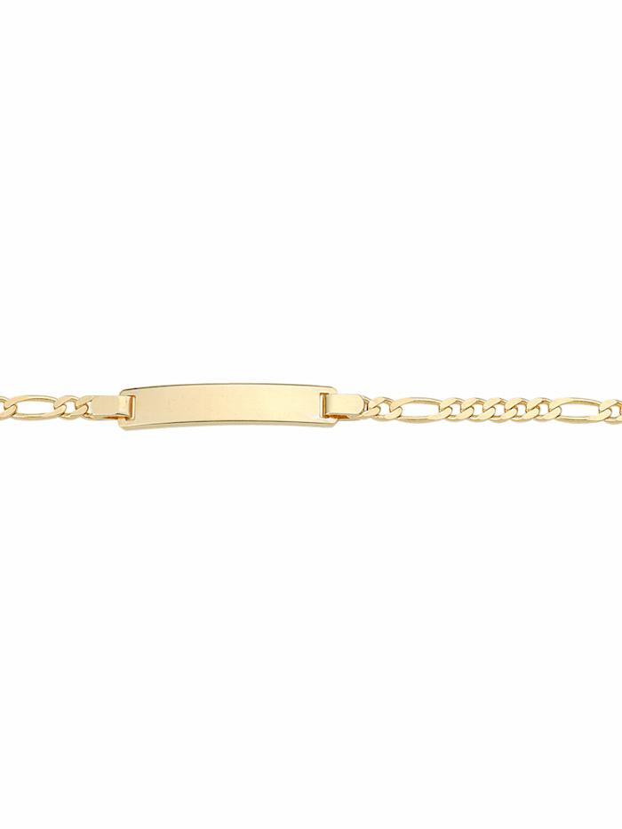 1001 Diamonds 1001 Diamonds Damen Goldschmuck 333 Gold Figaro Armband 16 cm, gold