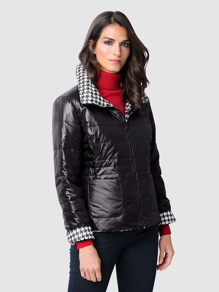 Alba Moda Jacke mit Wendemöglichkeit, Schwarz/Weiß
