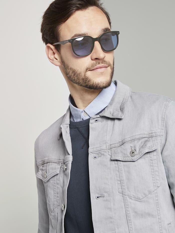 Tom Tailor Verspiegelte Wayfarer Sonnenbrille, black-black
