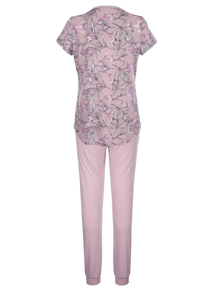 Schlafanzug mit modischem Druckdessin