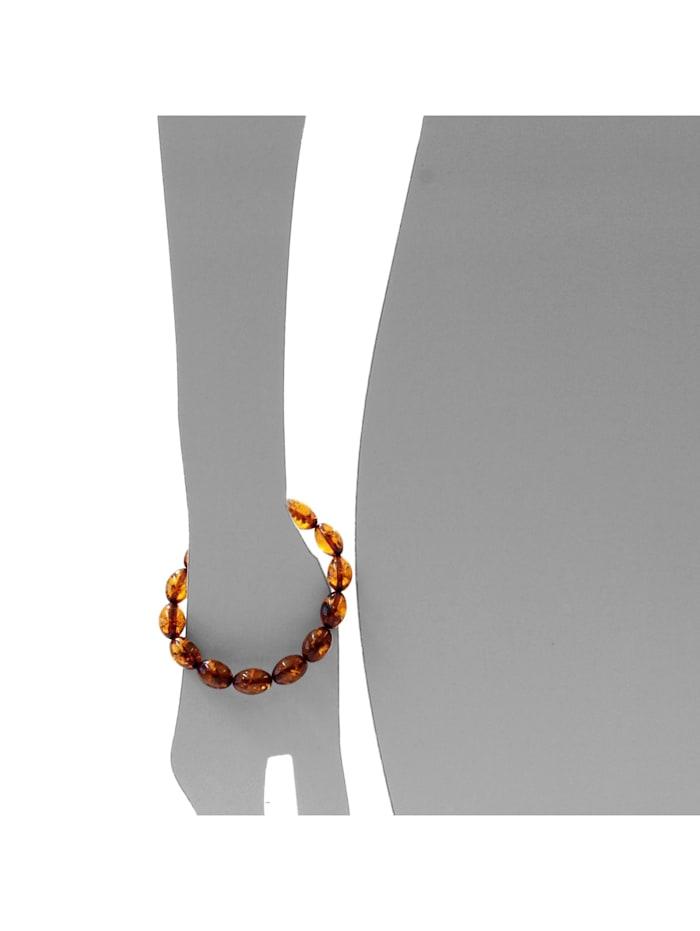 Armband - Olive 14x10 mm - Bernstein - ,