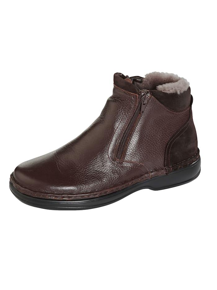 Stiefel mit wämendem Lammfell, Dunkelbraun