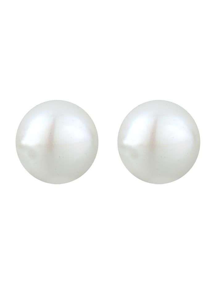 Ohrringe Perlen Süßwasserzuchtperle Elegant Basic Silber