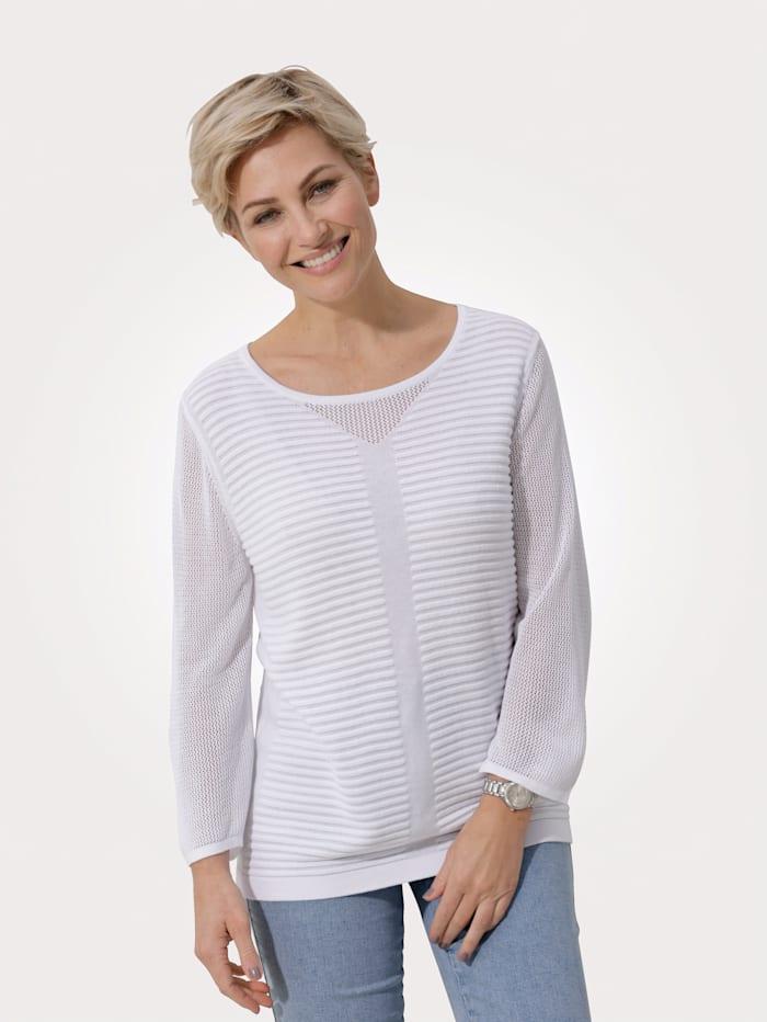 MONA Pullover aus reiner Viskose, Weiß