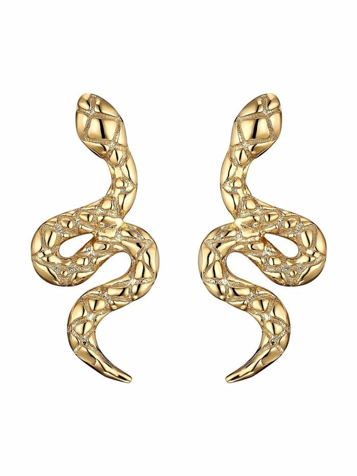 Noelani Ohrstecker für Damen, Sterling Silber 925 vergoldet, Schlange, Gold