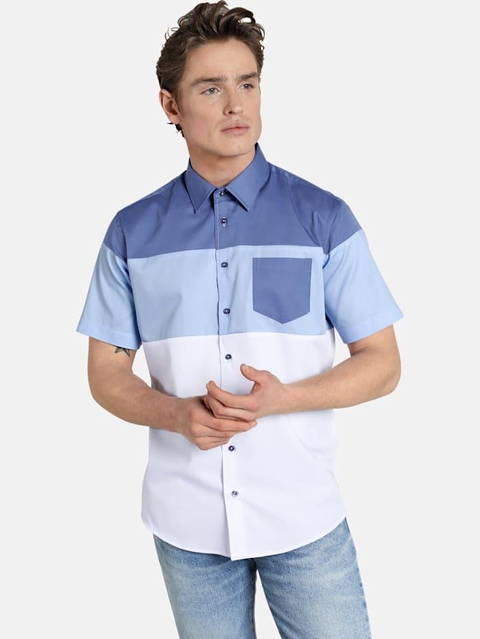 Shirtmaster Shirtmaster Kurzarmhemd blockingbeat, blau