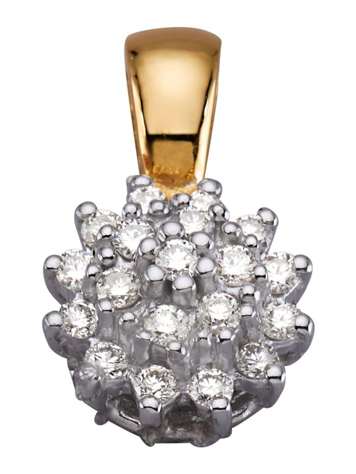 Diemer Diamant Anhänger mit 19 Brillanten, Weiß