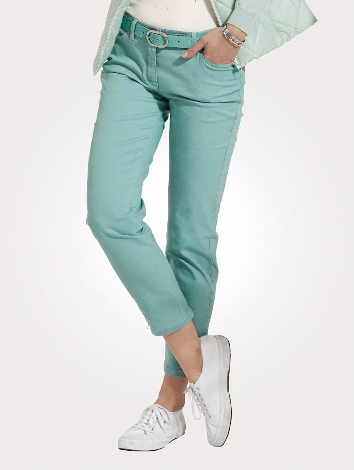 7/8-jeans van een zomerse katoenmix