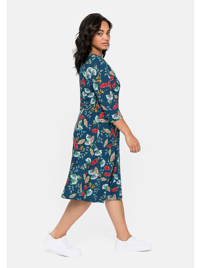Jerseykleid in Wickeloptik, mit Alloverdruck