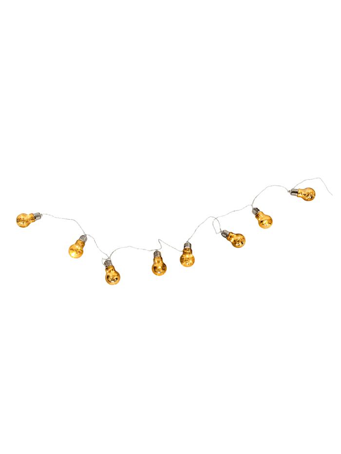 Schwartinsky Lichterkette 'Glühbirnen', goldfarben
