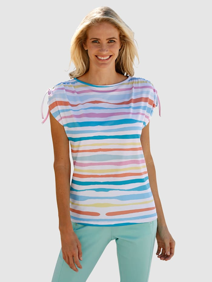 Dress In Top mit Streifen, Mintgrün/Weiß