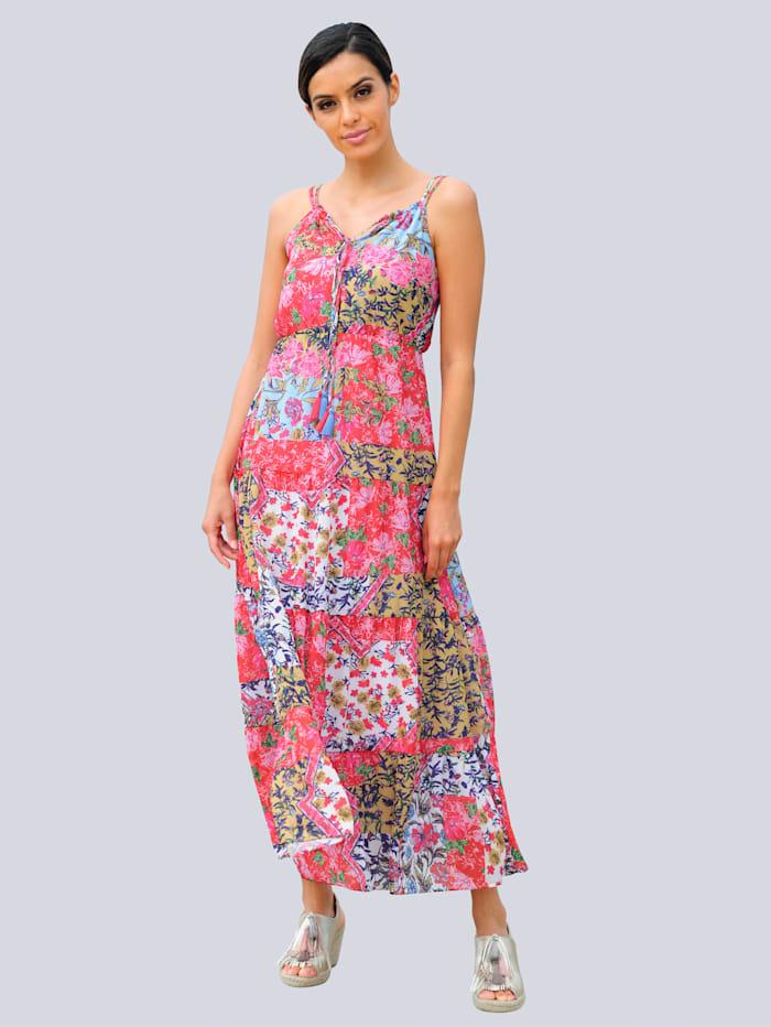 Alba Moda Robe de plage à imprimé patchwork, Rouge