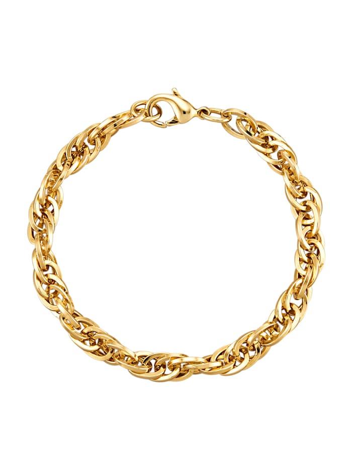 Armband i dubbel ankarlänk, Guldfärgad