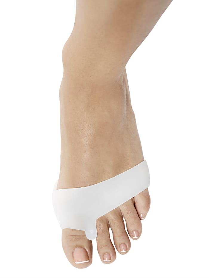 MedoVital Chránič bruška prstov na nohách 2 v 1, biela