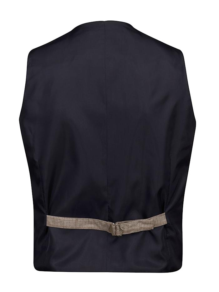 Mouwloos vest met ingebreid ruitdessin voor