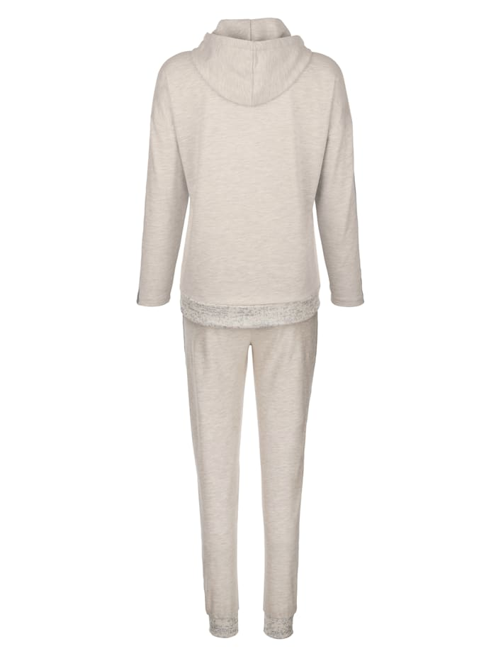 Leisure suit with silver-tone detailing