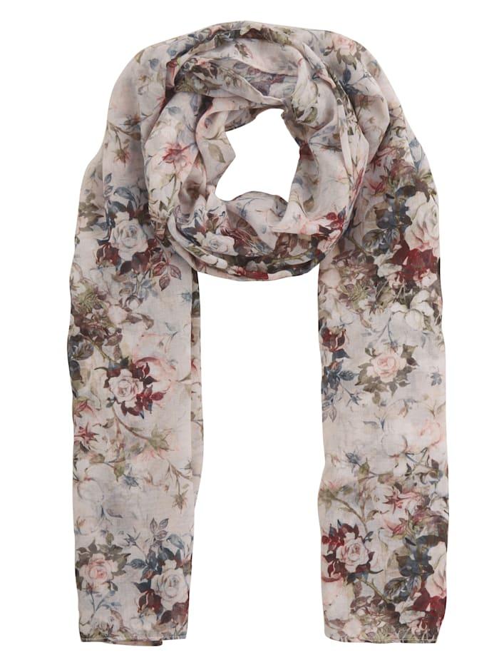 Paola Foulard à motif floral, Crème imprimé