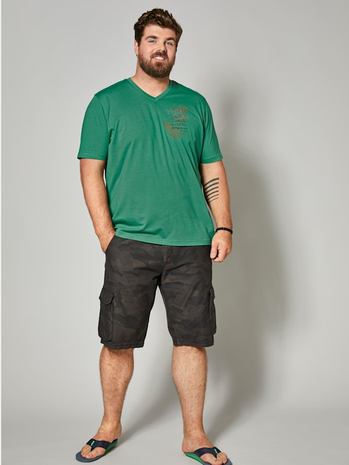 Men Plus Cargo-Bermuda Regular Fit, Khaki