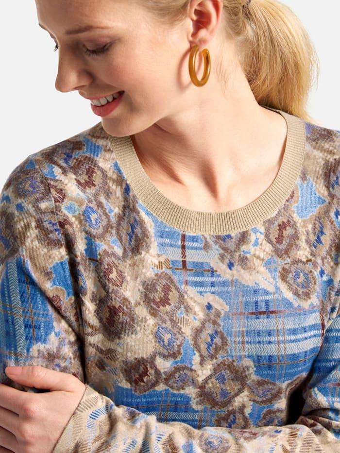 Pullover mit Rundhalsausschnitt und Allover-Print