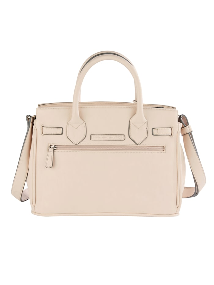 Handbag with ribbon and twist clasp