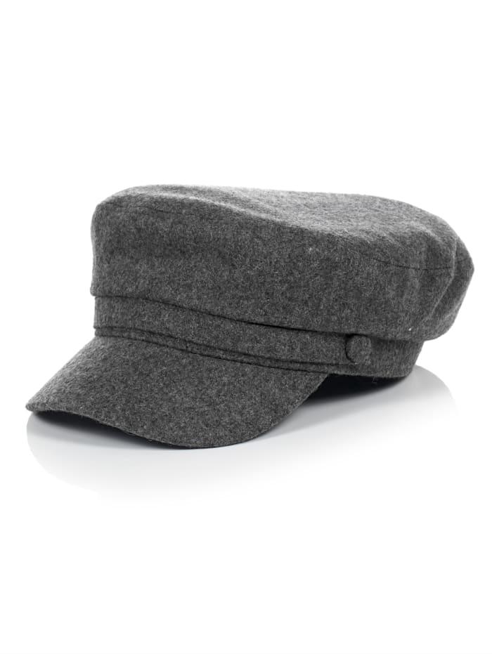 SIENNA Baker-Boy Hat, Grau