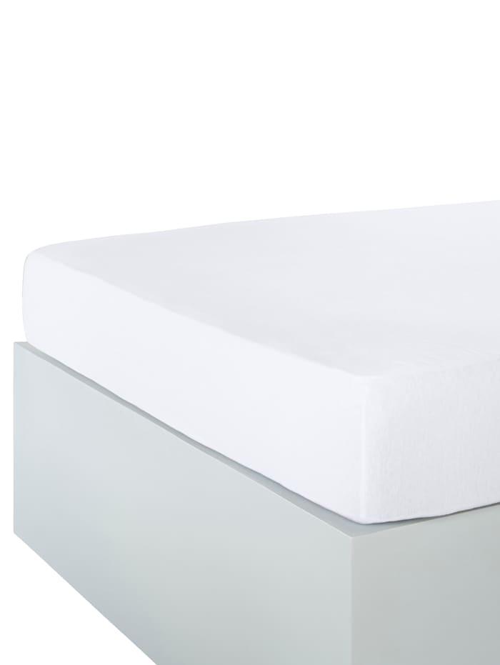 Webschatz Dra på-lakan av jersey, vit