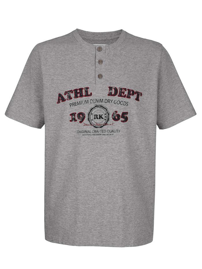 Roger Kent T-shirt à imprimé devant, Gris
