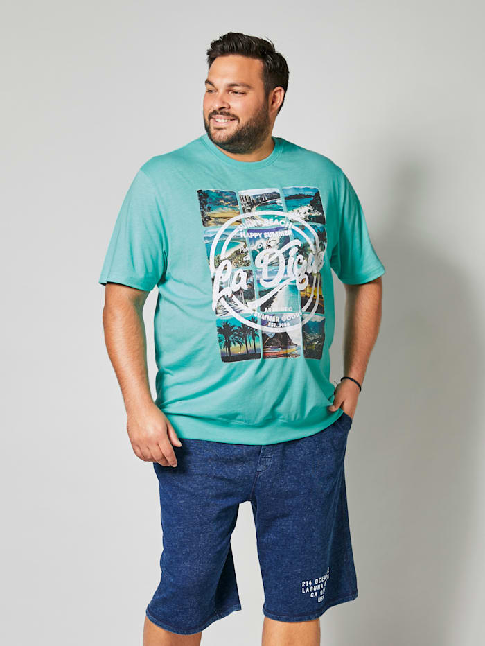 Men Plus T-shirt in speciaal model, Mint