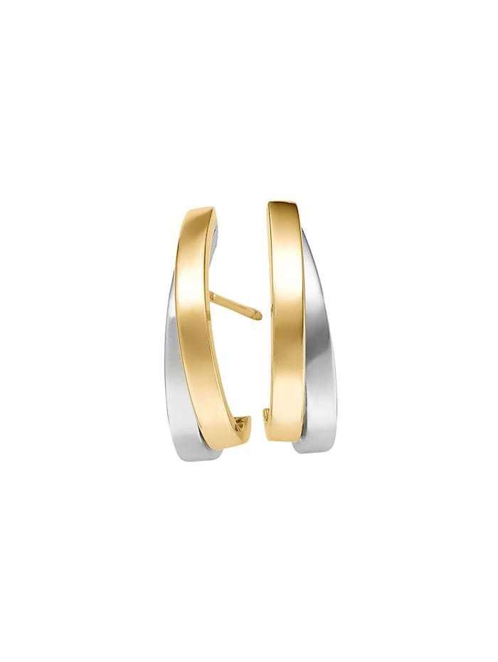 CHRIST Gold Damen-Ohrstecker 585er Gelbgold, 585er Weißgold