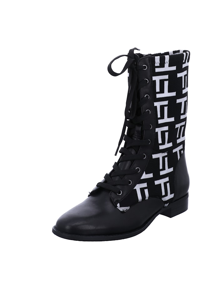Tizian Tizian Damen-Stiefel Dallas 1 10, schwarz-weiss, schwarz-weiss