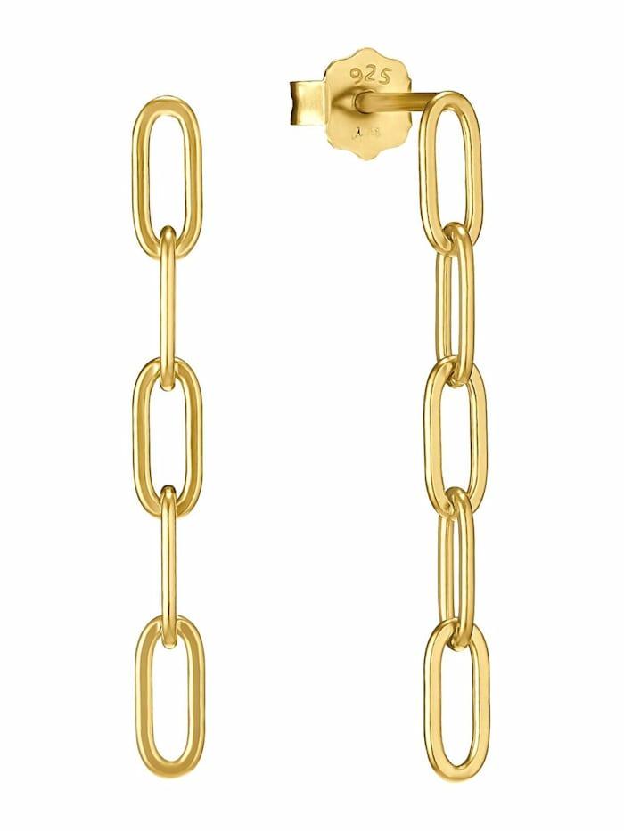 amor Ohrstecker für Damen, Sterling Silber 925, Gold