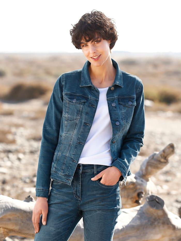 Dress In Jeansjacke mit angesagten Wascheffekten, Blau