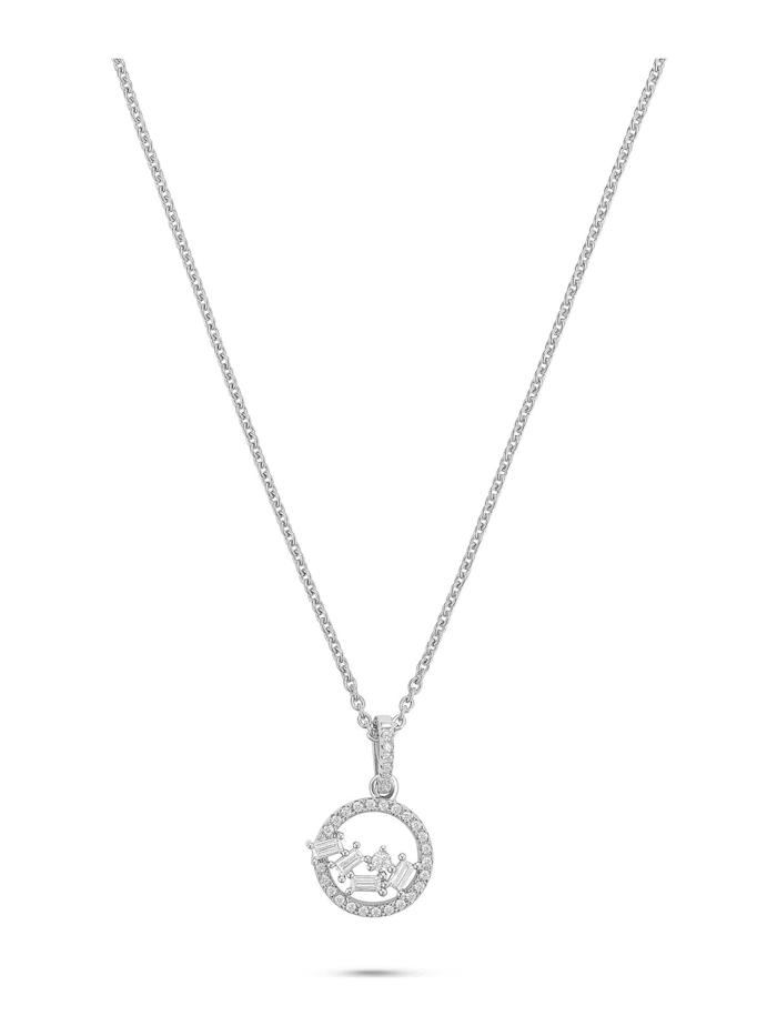 FAVS. FAVS Damen-Kette Halskette aus Sterling Silber 925er Silber 36 Zirkonia, silber