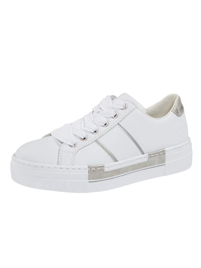 Rieker Sneaker met leren voetbed, Wit
