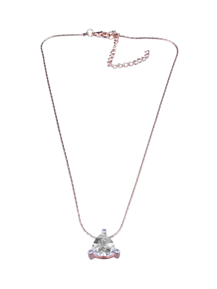 Collezione Alessandro Kurze Kette Zora mit schlichtem Glasstein, rosegold