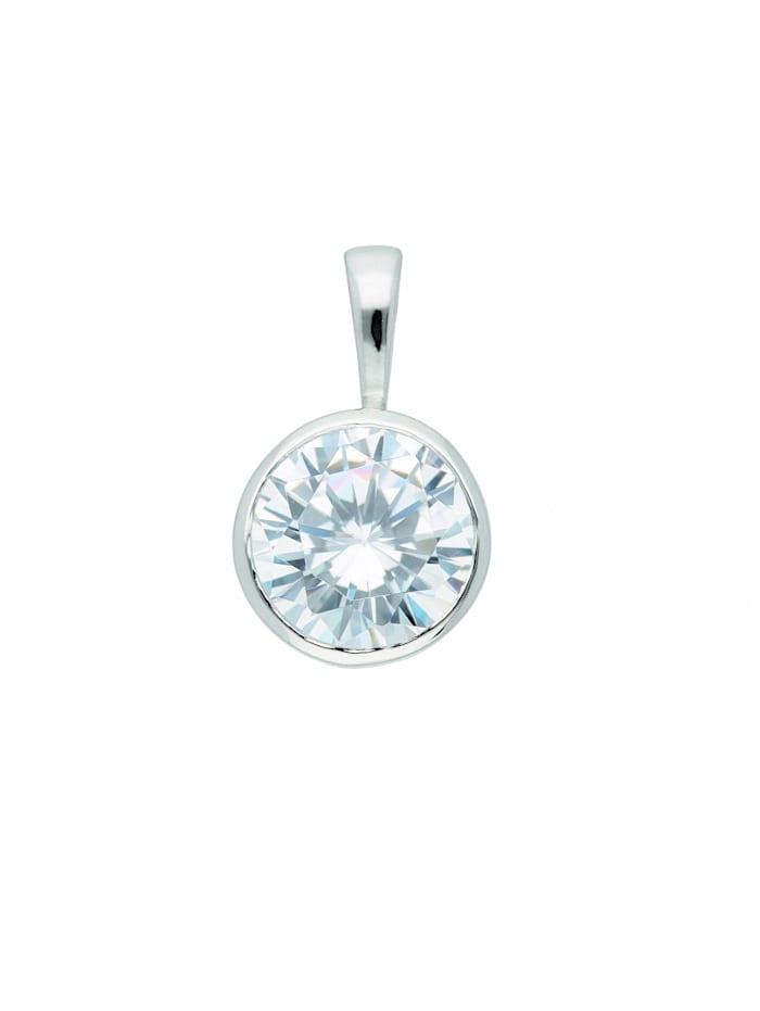 1001 Diamonds Damen Silberschmuck 925 Silber Anhänger mit Zirkonia Ø 7,9 mm, silber