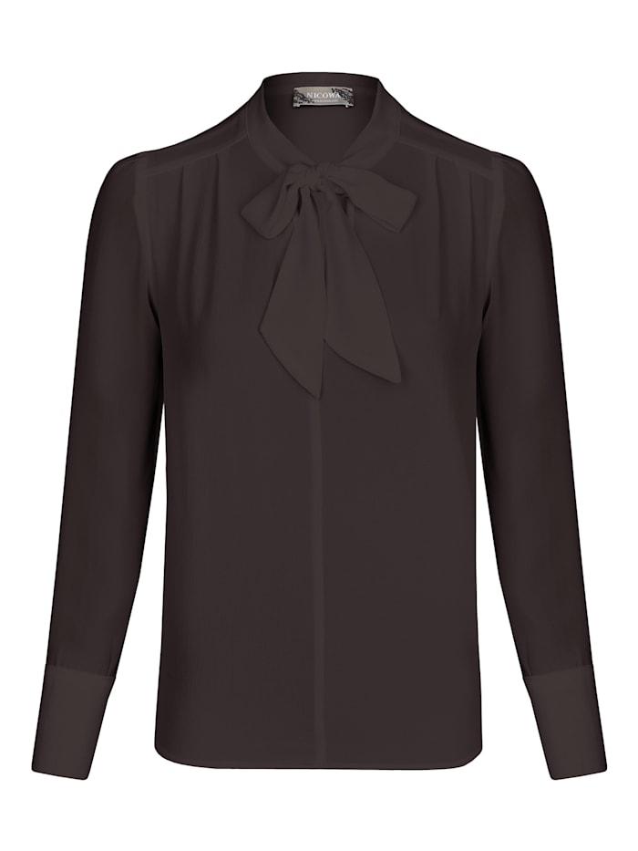 Nicowa Luftige Bluse NELSA mit geschmackvoller Schleife, black