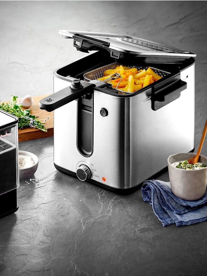 WMF Friteuse met aardappelsnijder Fryer & Dicer, Zilverkleur/Zwart