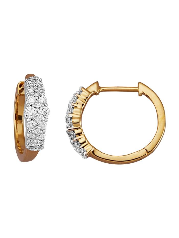 Amara Diamant Klappcreolen mit Brillanten, Weiß
