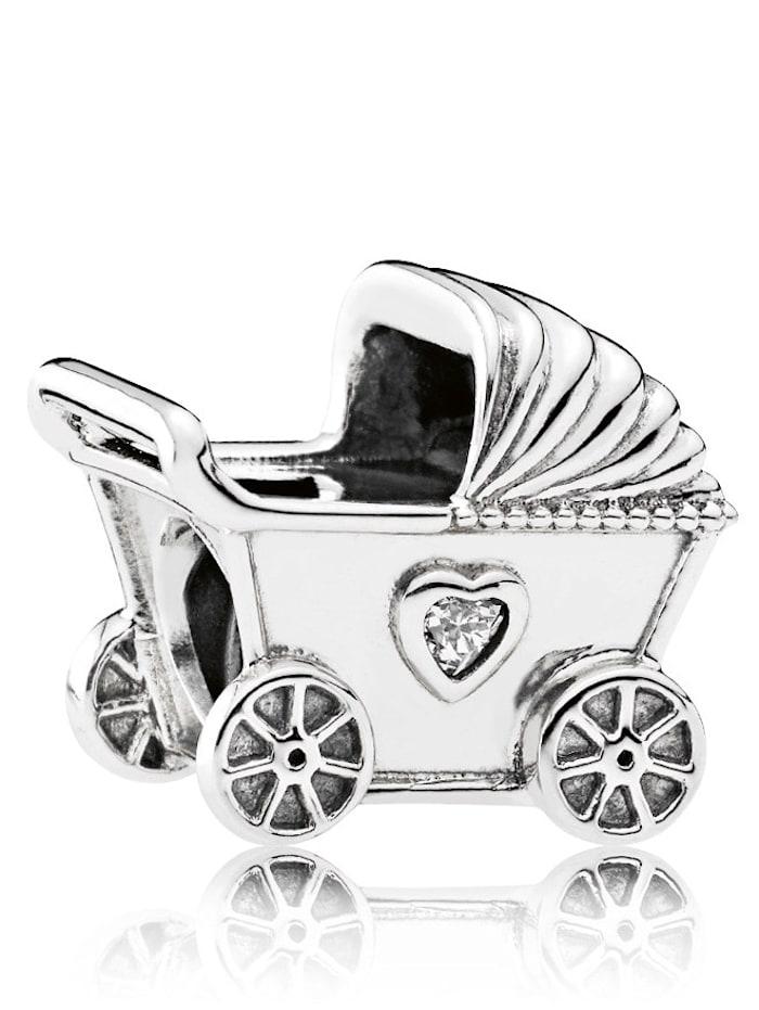 Pandora Charm -Kinderwagen- 792102CZ, Weiß