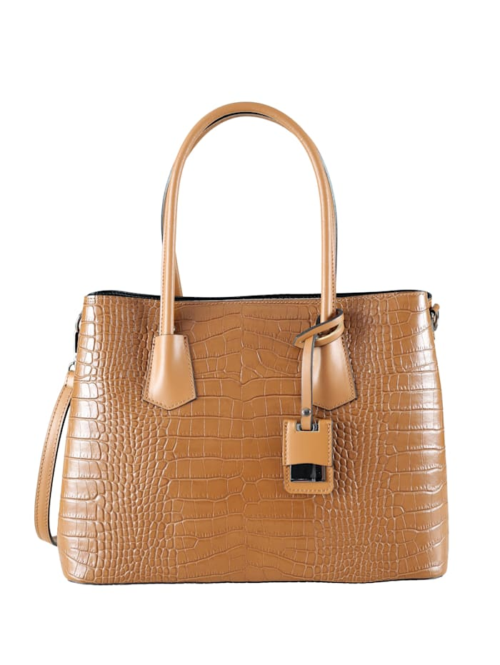 Collezione Alessandro Business Ledertasche Claire Made in Italy, cognac