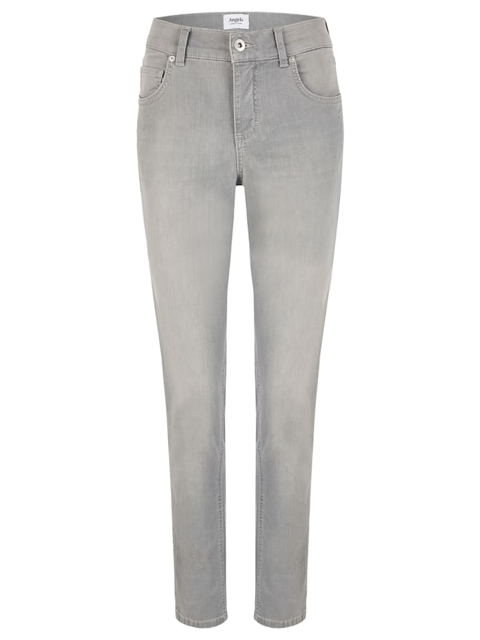 Angels Jeans ,Skinny' mit Five-Pocket-Design, light grey used buffi
