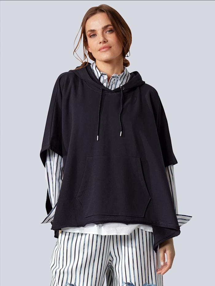 MARGITTES Sweatshirt in weicher Qualität, Marineblau