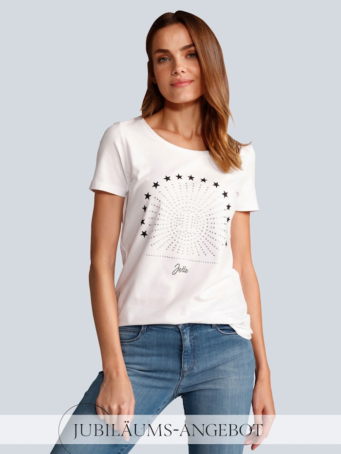 JETTE JOOP T-Shirt mit Sternchen, Weiß