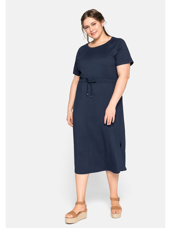 Sheego Sheego Kleid mit Tunnelzug in der Taille, nachtblau