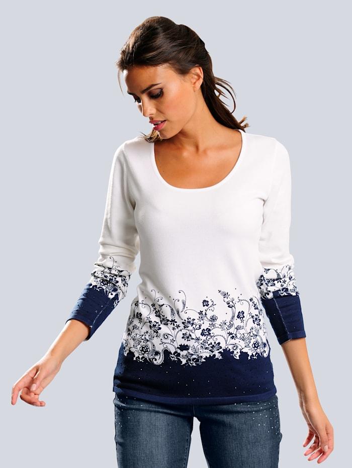 Pullover mit Alba Moda exklusivem Blumendruck