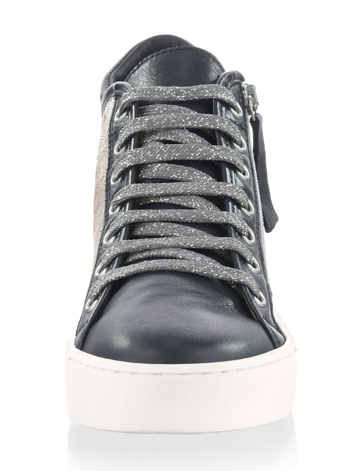 High Top-Sneaker im Optiken-Mix