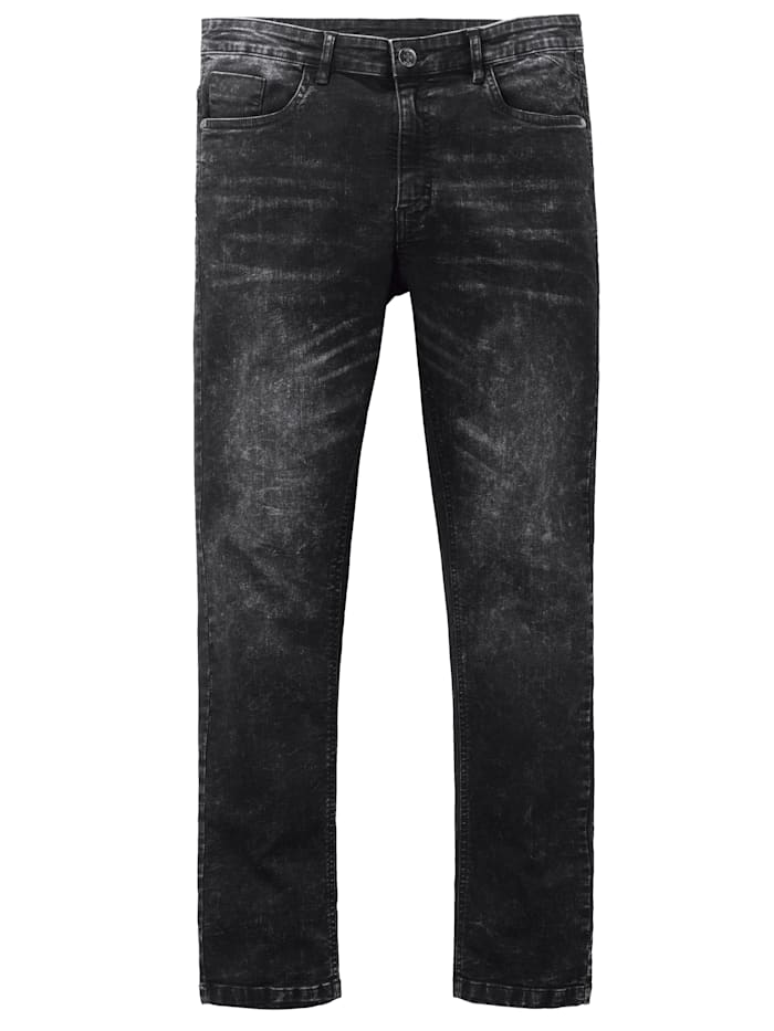 Men Plus Jeans in Stretch-Qualität, Black