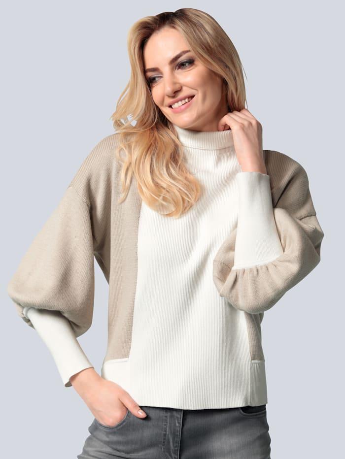 SPORTALM Pullover mit Intarsienmotiv, Creme-Weiß